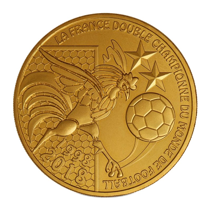 Monnaie de Paris - La France double championne du monde de football - 1998-2018